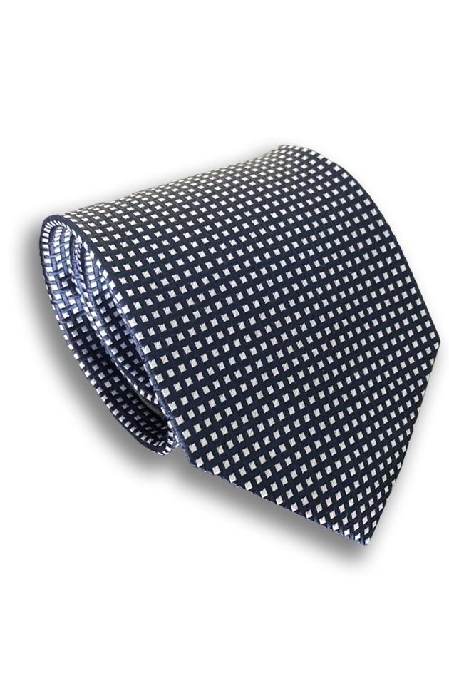 Blue Check Silk Tie