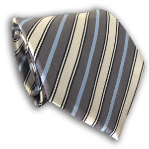 Grey Polyester Tie