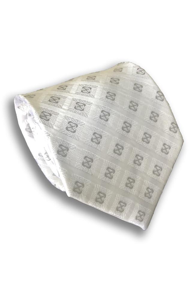 White Check Silk Tie
