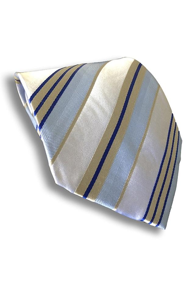 Silver & Blue Silk Tie