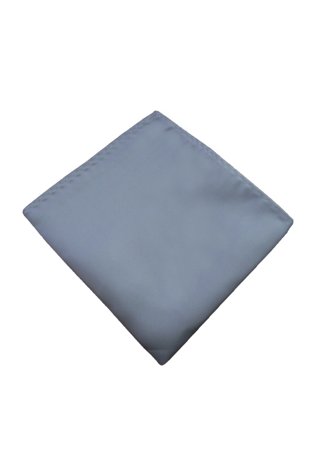 Silver Pocket Square Handkerchief