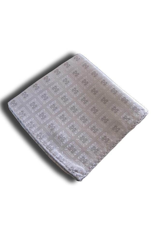 White Check Pocket Square