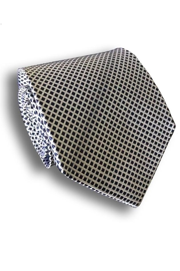 Checkered Seven Fold Silk Tie