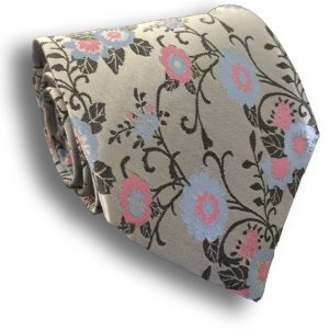 Floral Seven Fold Silk Tie