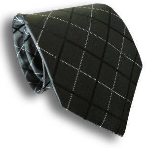 Black Seven Fold Silk Tie