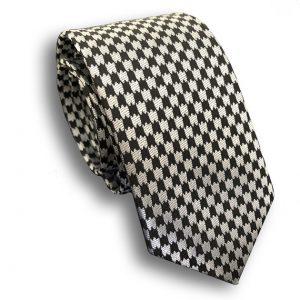 Black & White Check Skinny Tie