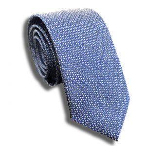 Blue Check Skinny Tie