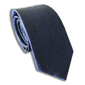 Navy Paisley Skinny Tie
