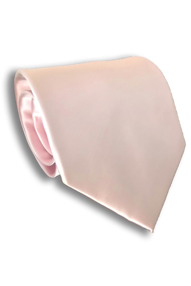 Baby Pink Polyester Tie